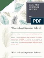 Economics Report on Agrarian Reform