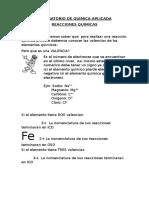 Laboratorio de Quimica Aplicada Reacciones Quimicas