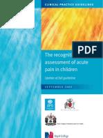dolor agudo en niños