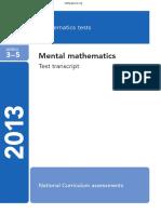 KS2 2013 Maths Mental Transcript