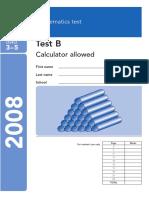 Maths Paper B 2008