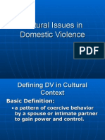 Cultural Issues in Domestic Violence