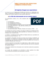 Environement Financier Des Opérations Du Commerce International - Module 02