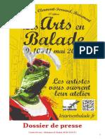 Les Arts en Balade 2014 - Dossier de Presse