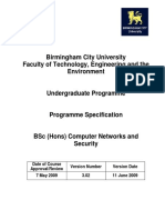 Computer Networks and Security BSC