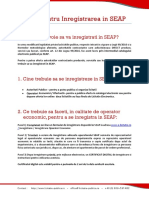 Ghid Inregistrarea in SEAP in 3 Pasi