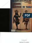 Claude Levistrauss de Lorigine Des Manieres de Tables