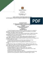 Hotarirea Nr. 450 Pentru Aprobarea Standardelor Minime de Calitate Privind Îngrijirea, Educarea Şi Socializarea Copilului Din Centrul de Plasament Temporar (1)