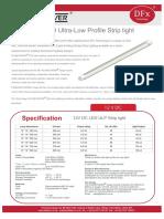12 Volt DC LED Ultra-Low Profile Stript Light