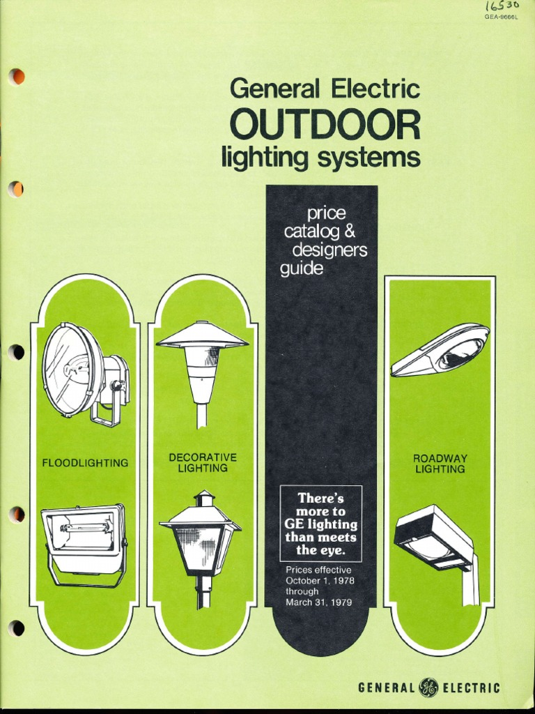 GE Lighting Systems Price Book Outdoor Designers Guide 10 78 3