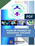 Plan de Residuos Solidos 2016