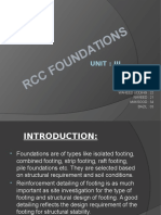 Rcc Foundation-unit 3