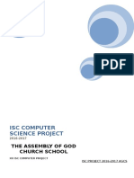 Isc Computer Science Project