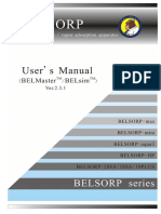 Belsorp Manual