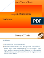 4.HG Manur Ch-4 Significance and Concept of Terms of Trade