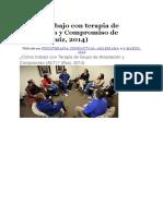 Cómo Trabajo Con Terapia de Aceptación y Compromiso de Grupo