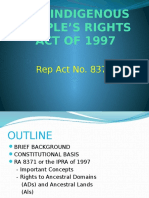 The Indigenous People's Rights Act of 1997