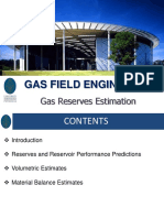 12. Gas Reserves Estimation