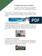 Como Mejorar La Administración Publica en Guatemala