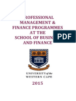 Programmes in Finance