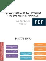 Farmacología de La Histamina y de Los Antihistaminicos