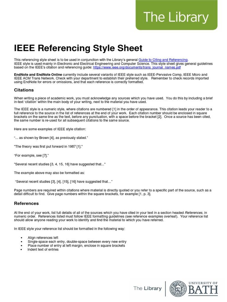Ieee | Citation | Tecnología
