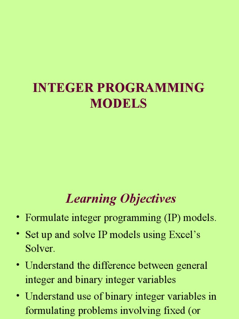 MS(Integer Programming) 1 | Linear Programming | Applied Mathematics