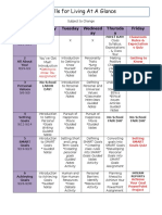 skills for living at glance schedule