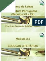 resumo escolas literárias