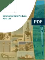 Communications Products List Complete (Dec 2016)