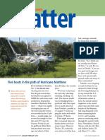Ocean Navigator -- Five boats in the path of Hurricane Matthew