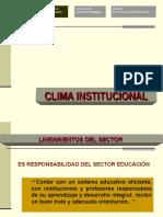 Clima Institucional Convivencia