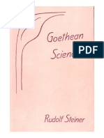 Goethean Science by Rudolf Steiner