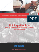 DRI a Hot Briquetted Iron HBI at Terminals Guide for Transporting and Handling