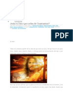 Jesus Es Dios Por Constantino