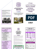 Fones School of Dental Hygiene NBDHE Review Course 2017 Brochure