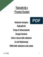 Radioattività e Processi Nucleari