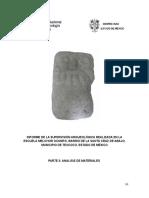 escuela Melchor Ocampo, Texcoco; análisis de materiales