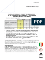 Comunicato 21092016 Approvazione Bozza Bilancio Ita
