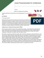 El Poder de Las Empresas Transnacionales vs La Soberanía de Los Pueblos