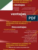 Tabla Comparativa Metodos Peps y Promedio