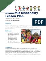 academic dishonesty lesson plan