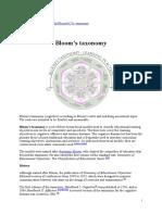 Bloom Taxonomy Wikipedia