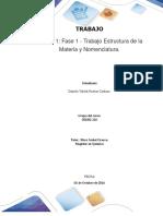 Unidad 1 Fase 1 - Trabajo Estructura de La Materia y Nomenclatura_Grupo Xxx - Daniela