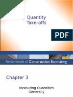 3) Quantity Take-Offs