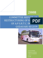 committee report on  restructuring of routes