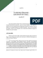 Un Peuple Étrange - Les DOGONS Du Mali