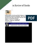 Judith Butler-Who Owns Kafka