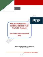Avance Del Manual de Gestión (PAT) 2016
