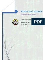 Numerical Analysis Mat-326l Fortran Programing by a.r. Sabbir v1.1612
